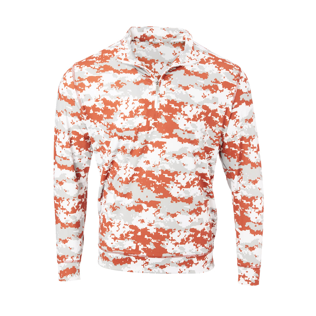 THE PULIDO DIGITAL CAMO HALF ZIP PULLOVER - IS46005