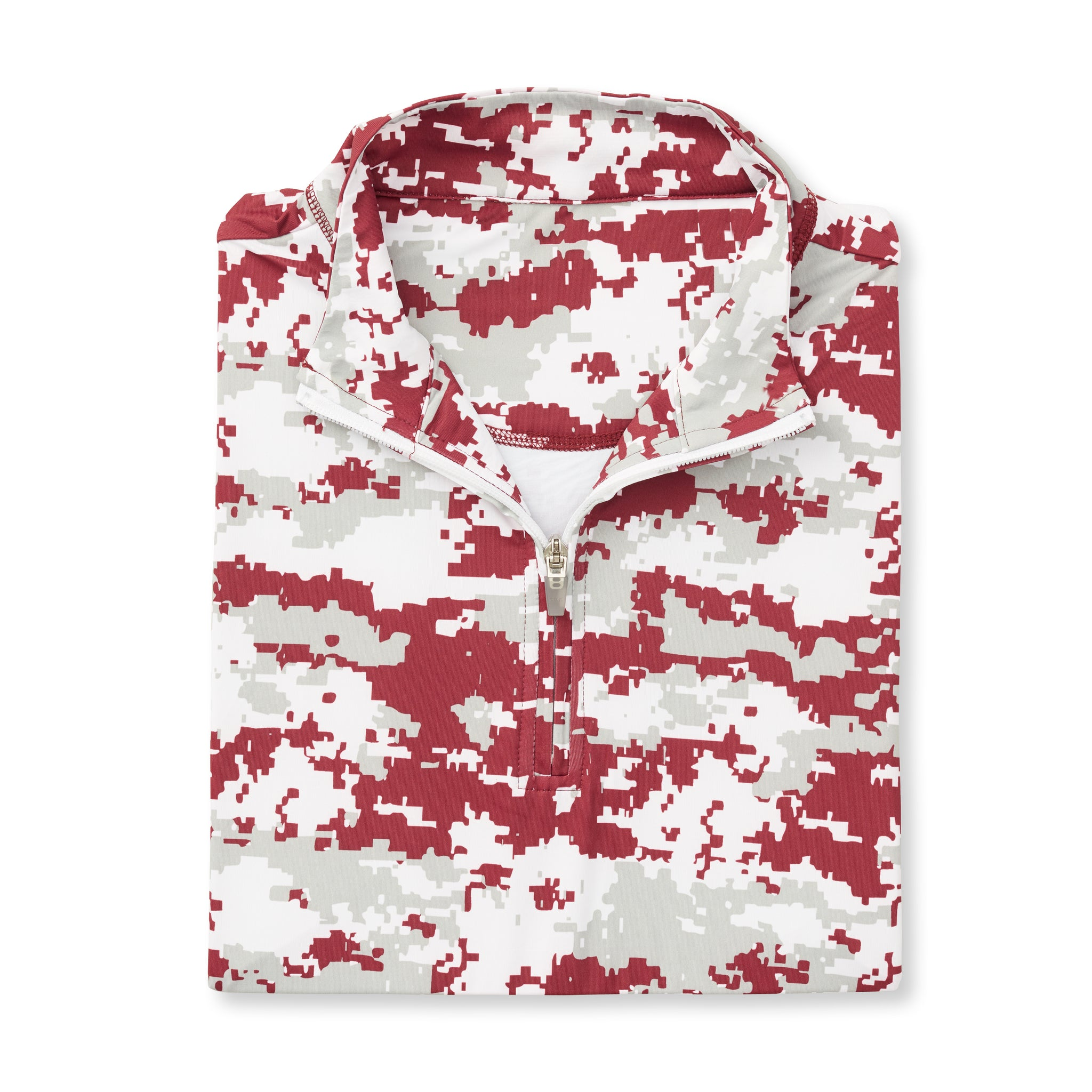 THE PULIDO DIGITAL CAMO HALF ZIP PULLOVER - Merlot IS46005
