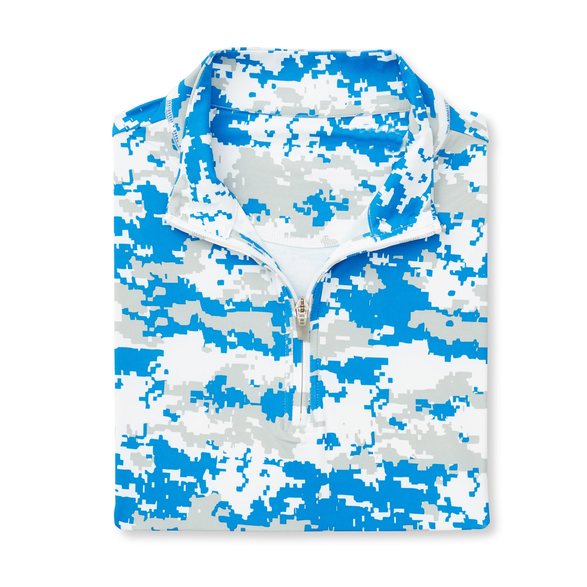THE PULIDO DIGITAL CAMO HALF ZIP PULLOVER - Nautical IS46005
