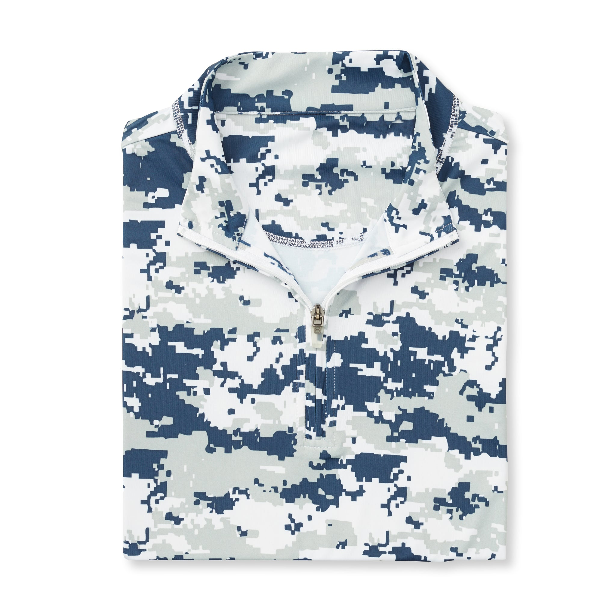 Digital Camo Half Zip - Navy IS46005