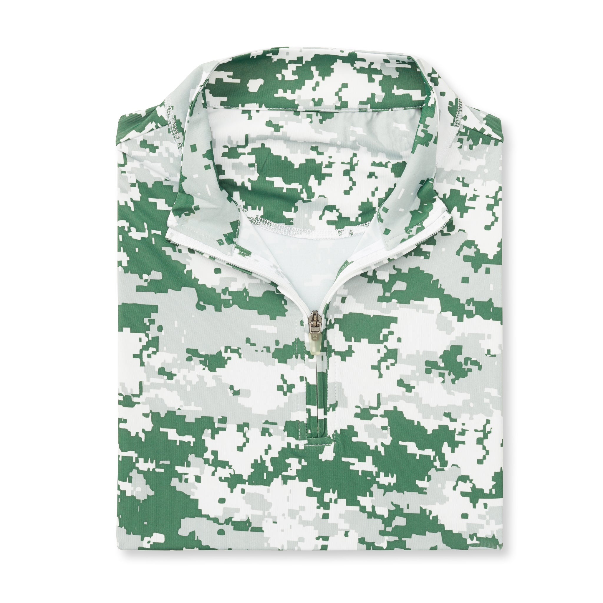 THE PULIDO DIGITAL CAMO HALF ZIP PULLOVER - Pine IS46005