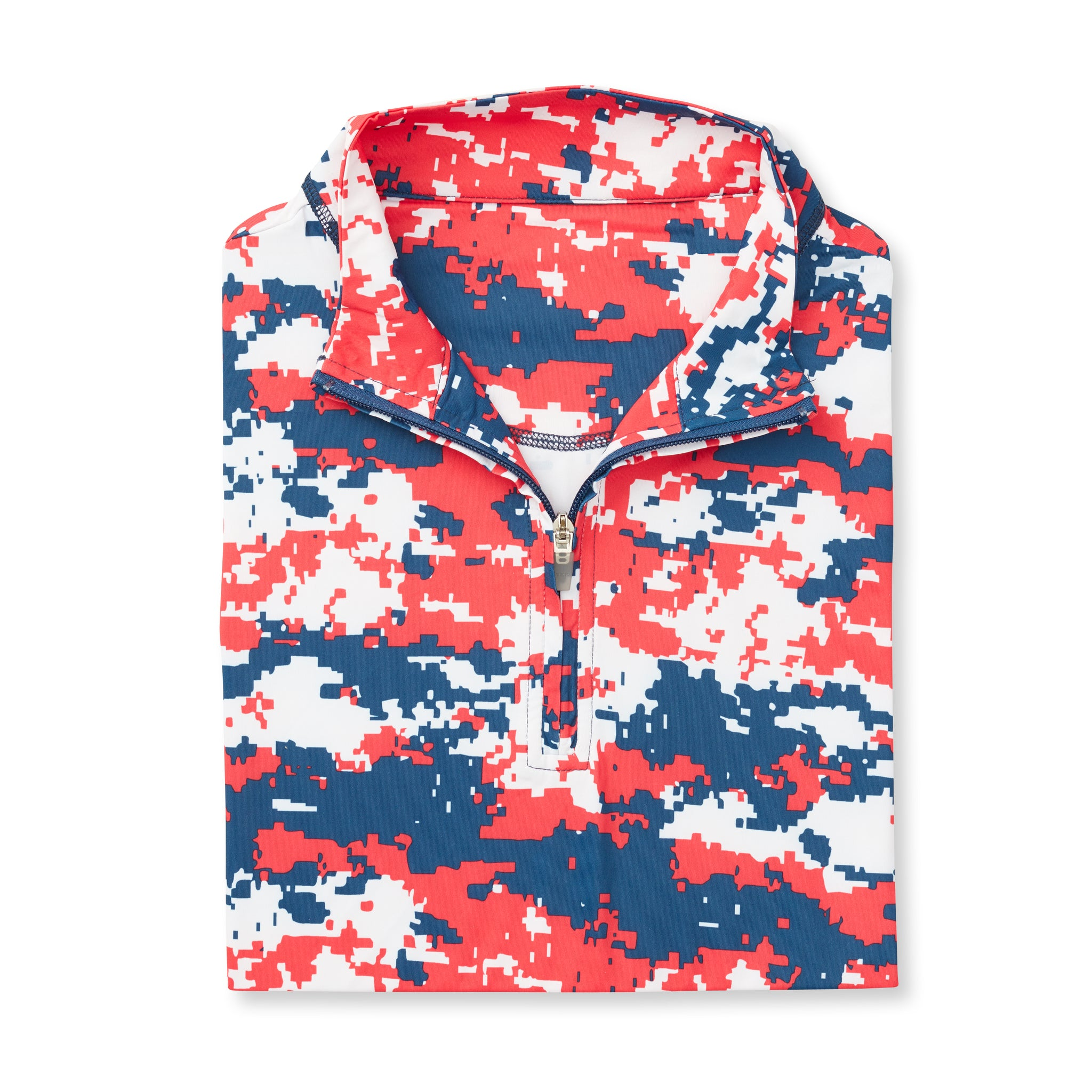 Digital Camo Half Zip - Red/White/Blue IS46005