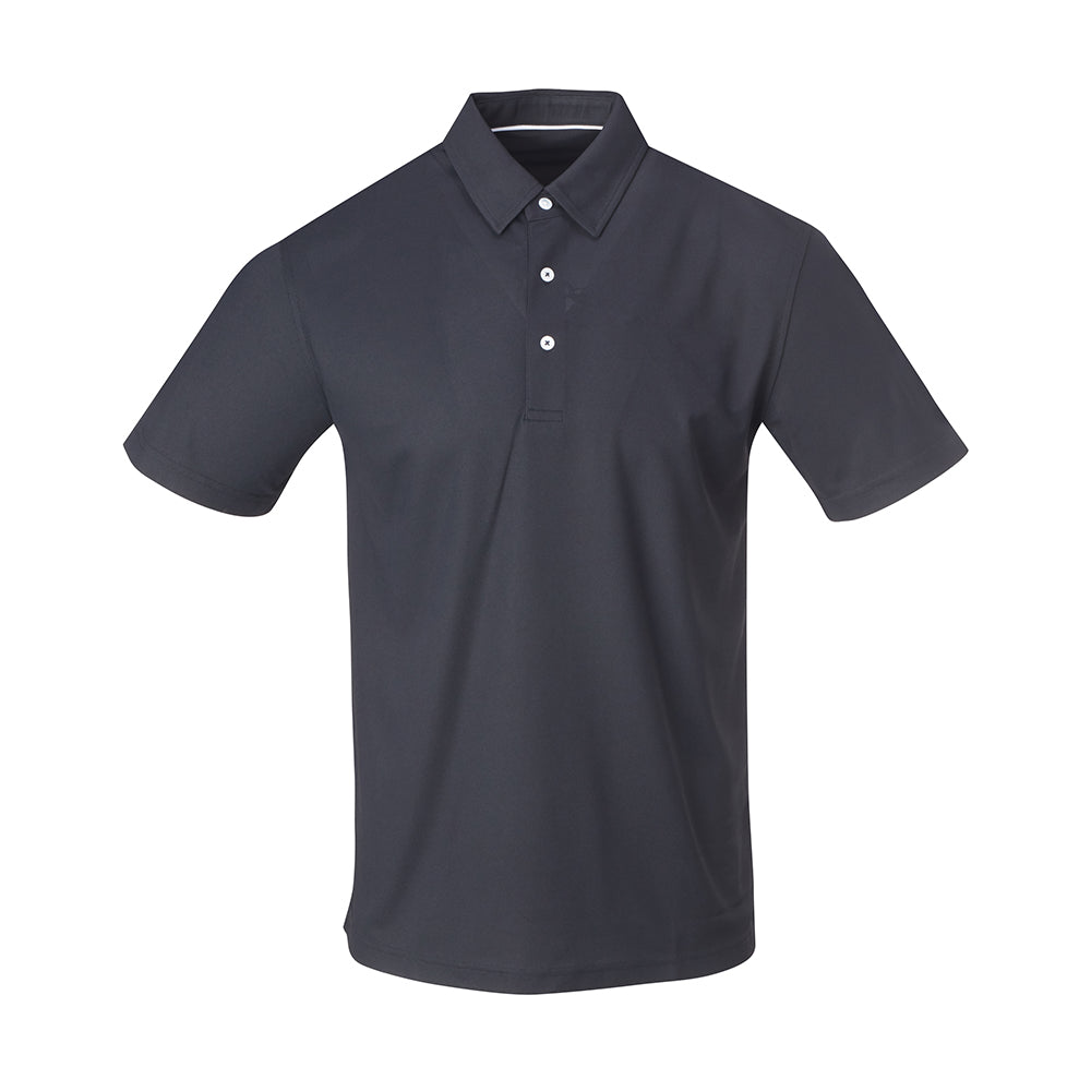 THE SCOTTSDALE PIQUE SOLID POLO - Black IS56803