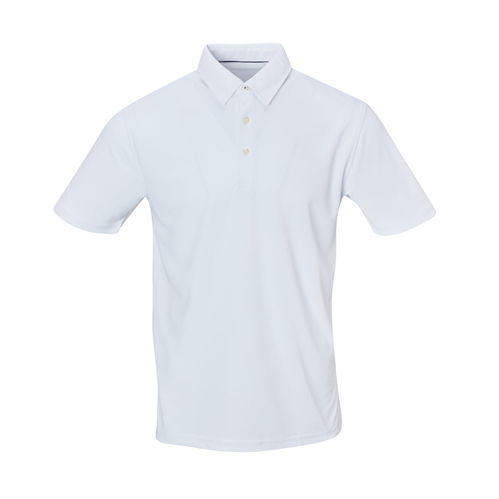 THE SCOTTSDALE PIQUE SOLID POLO - White IS56803