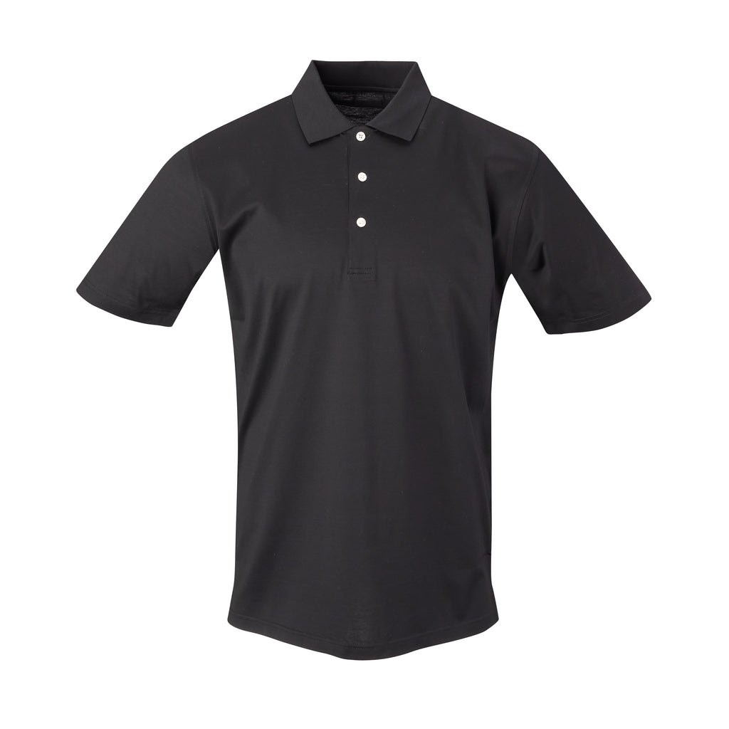 THE PRES MERCERIZED POLO - Black IS62200