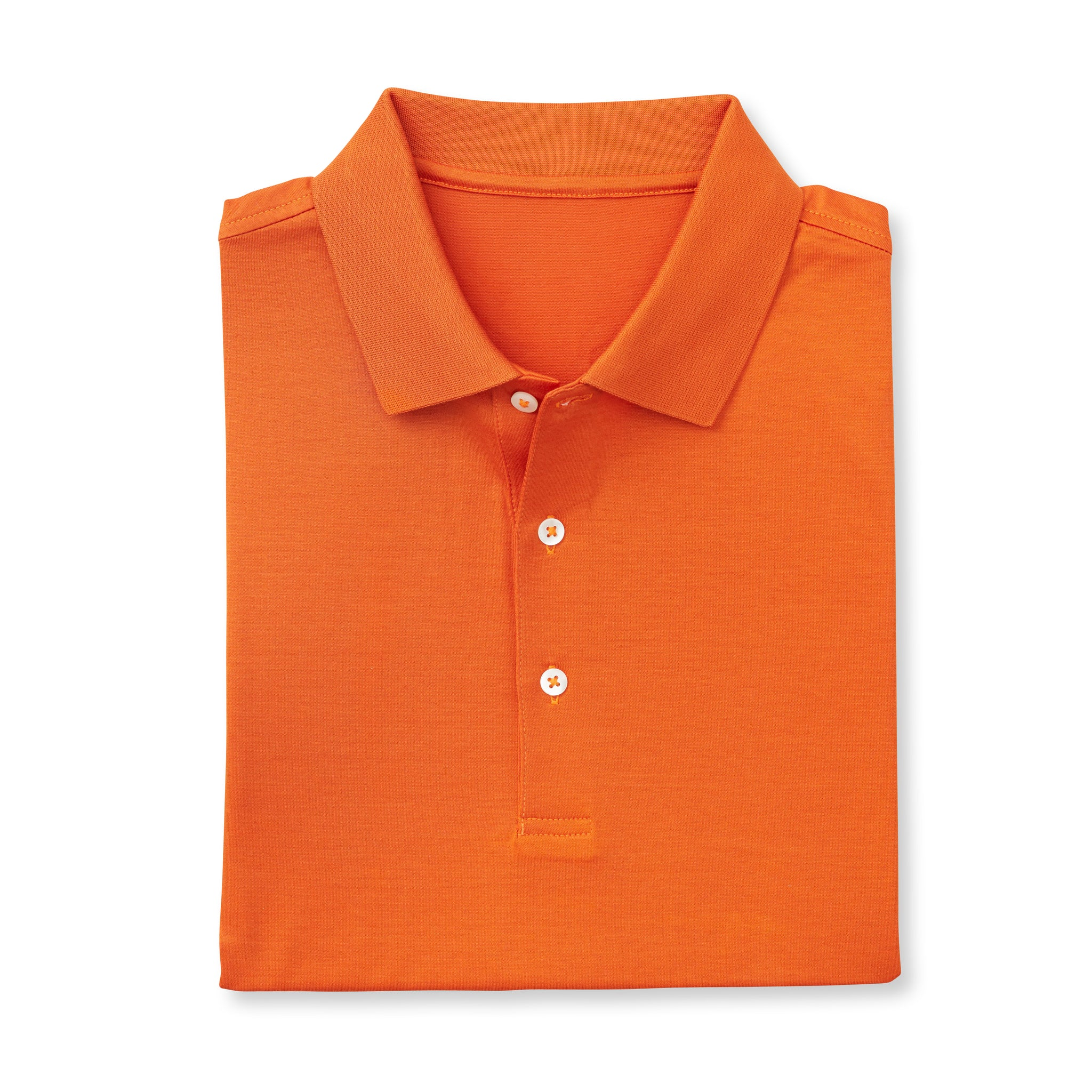 SUPIMA Short Sleeve Mercerized Polo - Burnt Orange IS62200