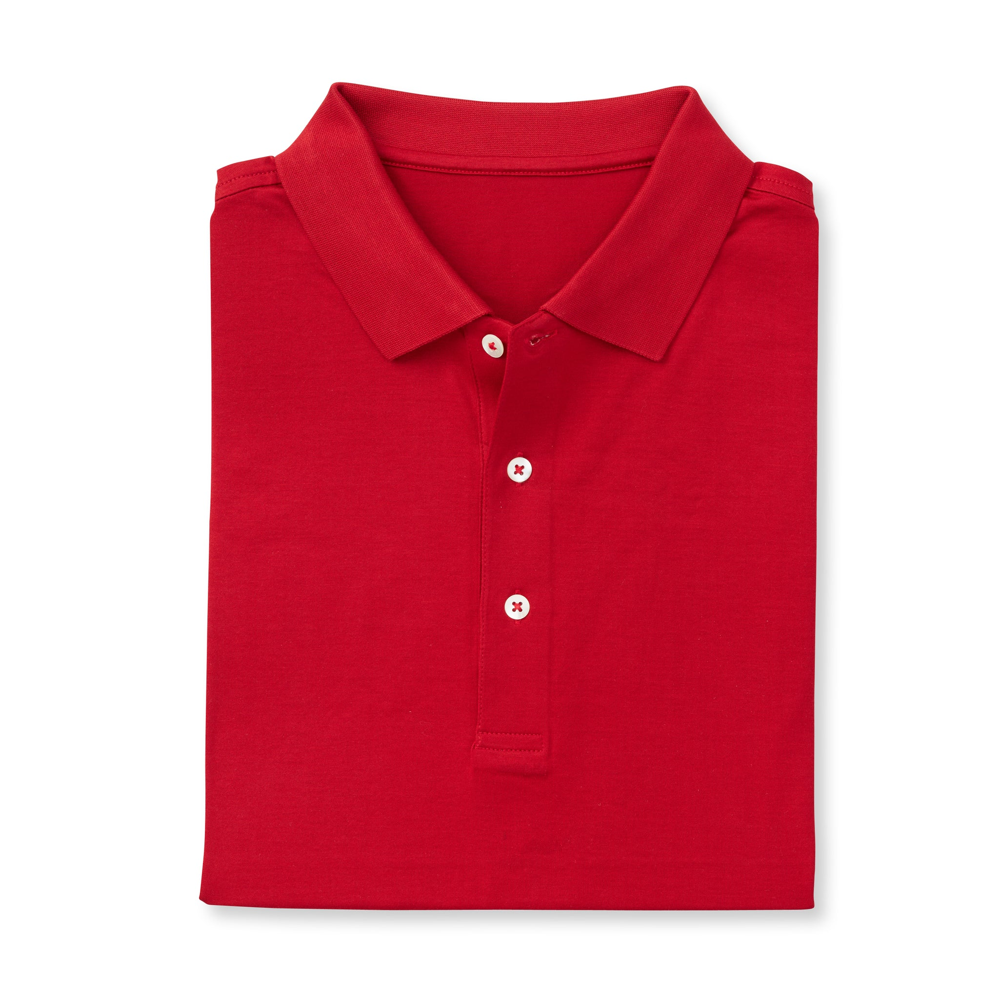 SUPIMA Short Sleeve Mercerized Polo - Crimson IS62200