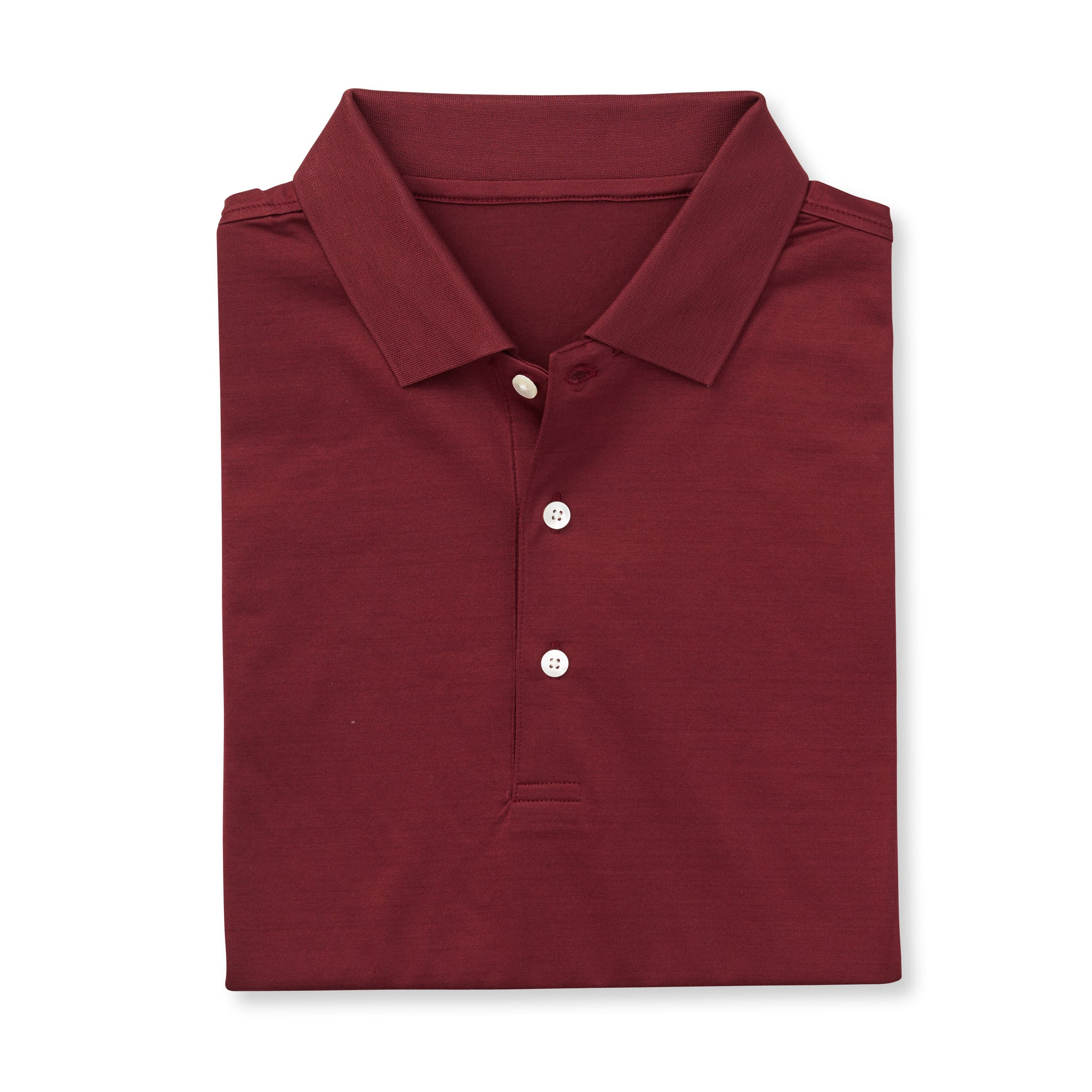 SUPIMA Short Sleeve Mercerized Polo - Merlot IS62200