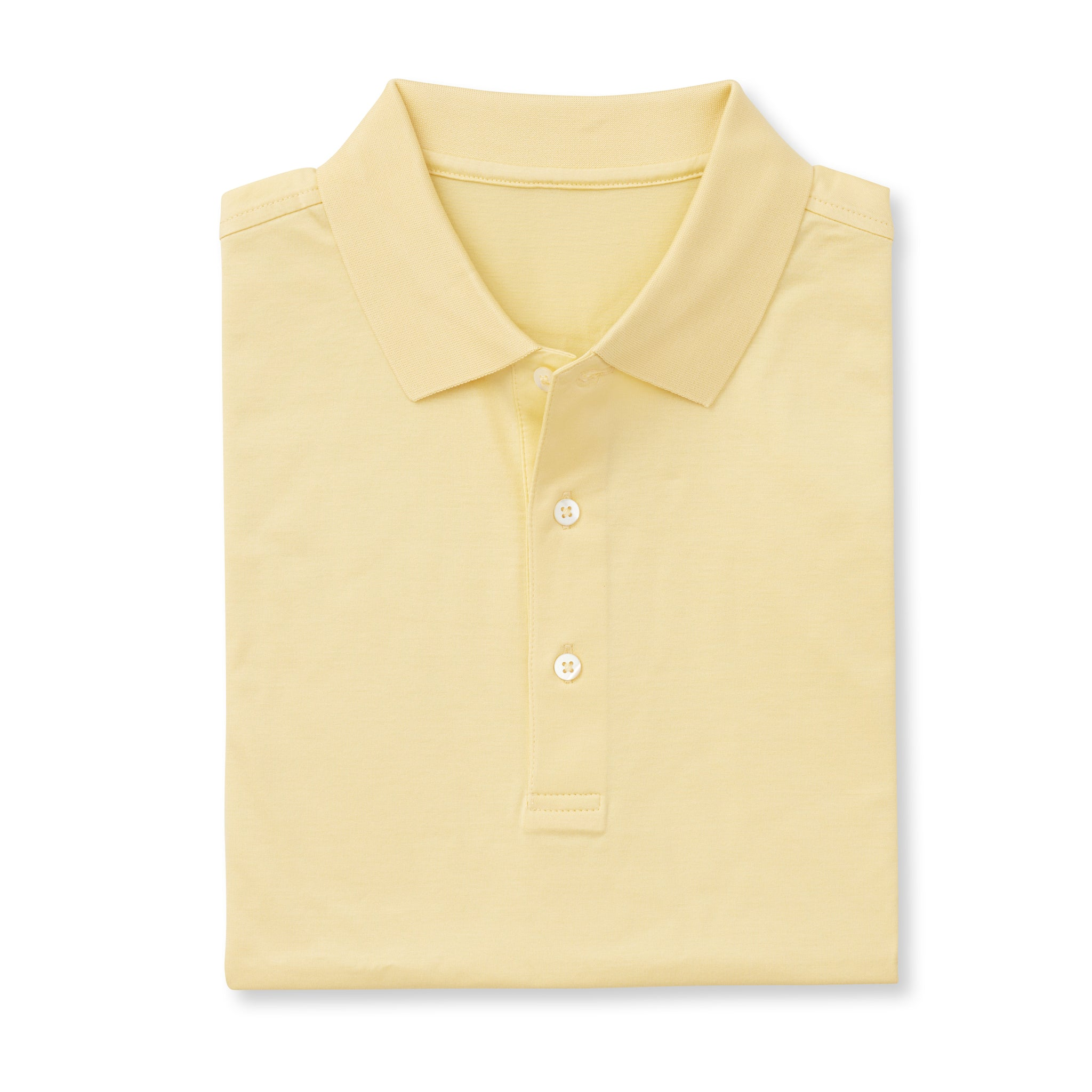 SUPIMA Short Sleeve Mercerized Polo - Yellow IS62200