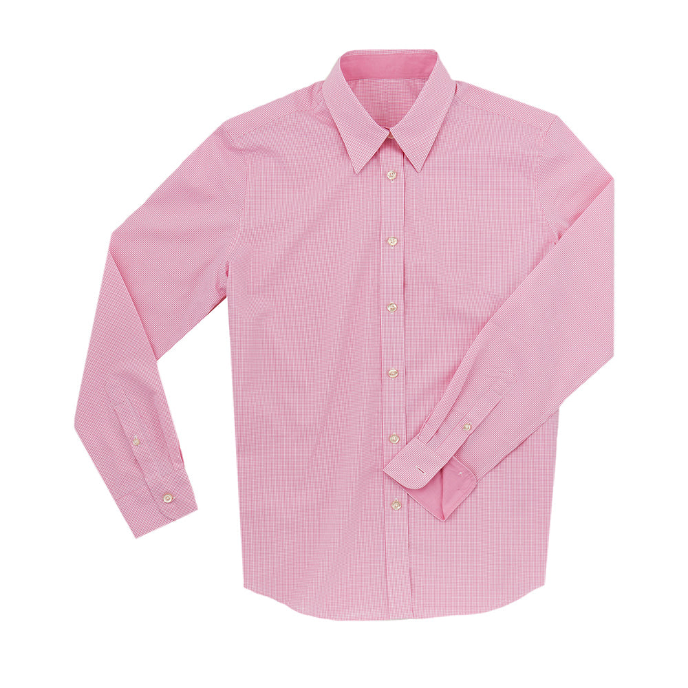Women's Boss SWISS COTTON POPLIN Mini Check Shirt - Pink IS62311W