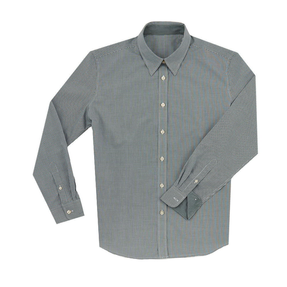 Women's Boss SWISS COTTON POPLIN Mini Check Shirt -Pine IS62311W