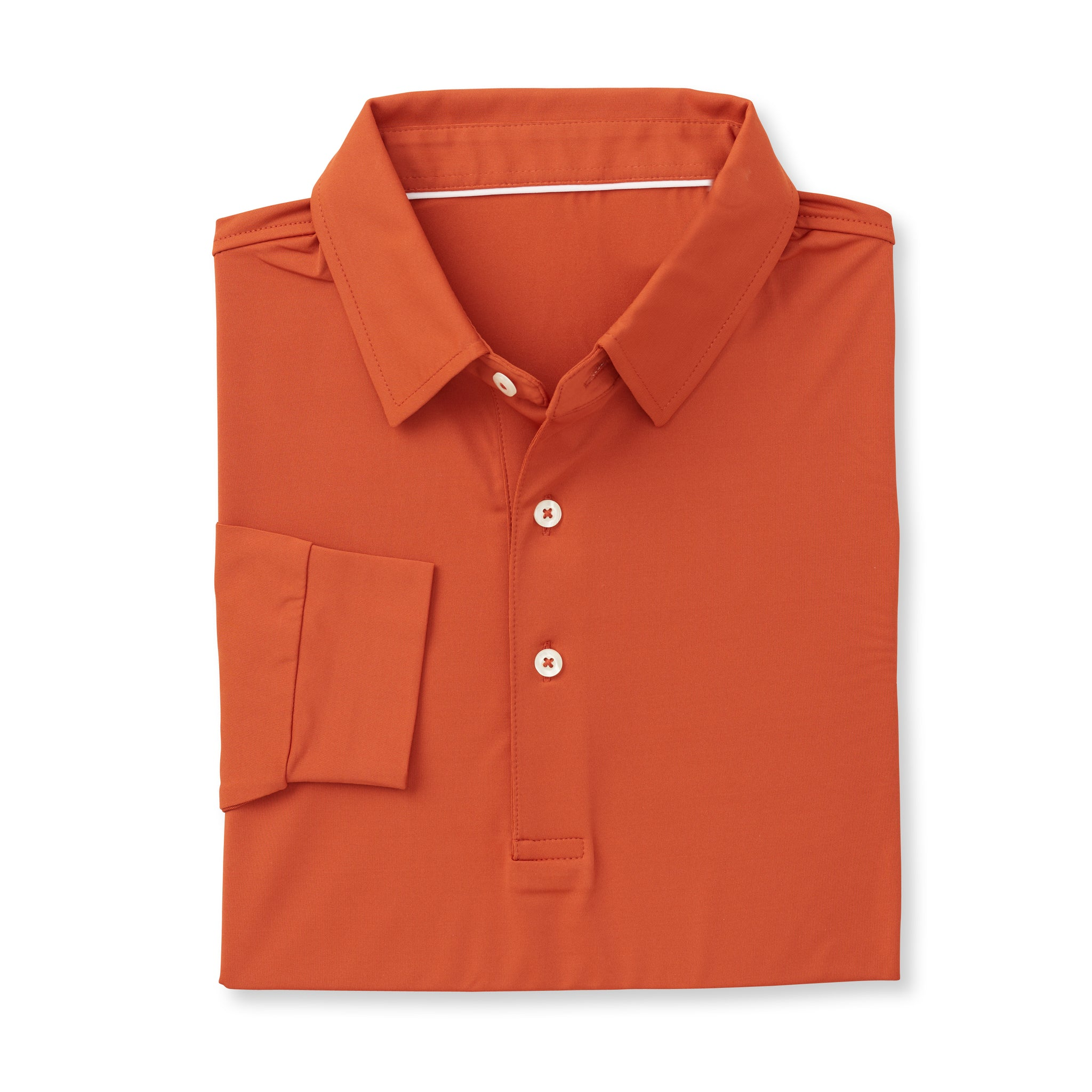 ECOTEC Long Sleeve Polo - Burnt Orange IS66001