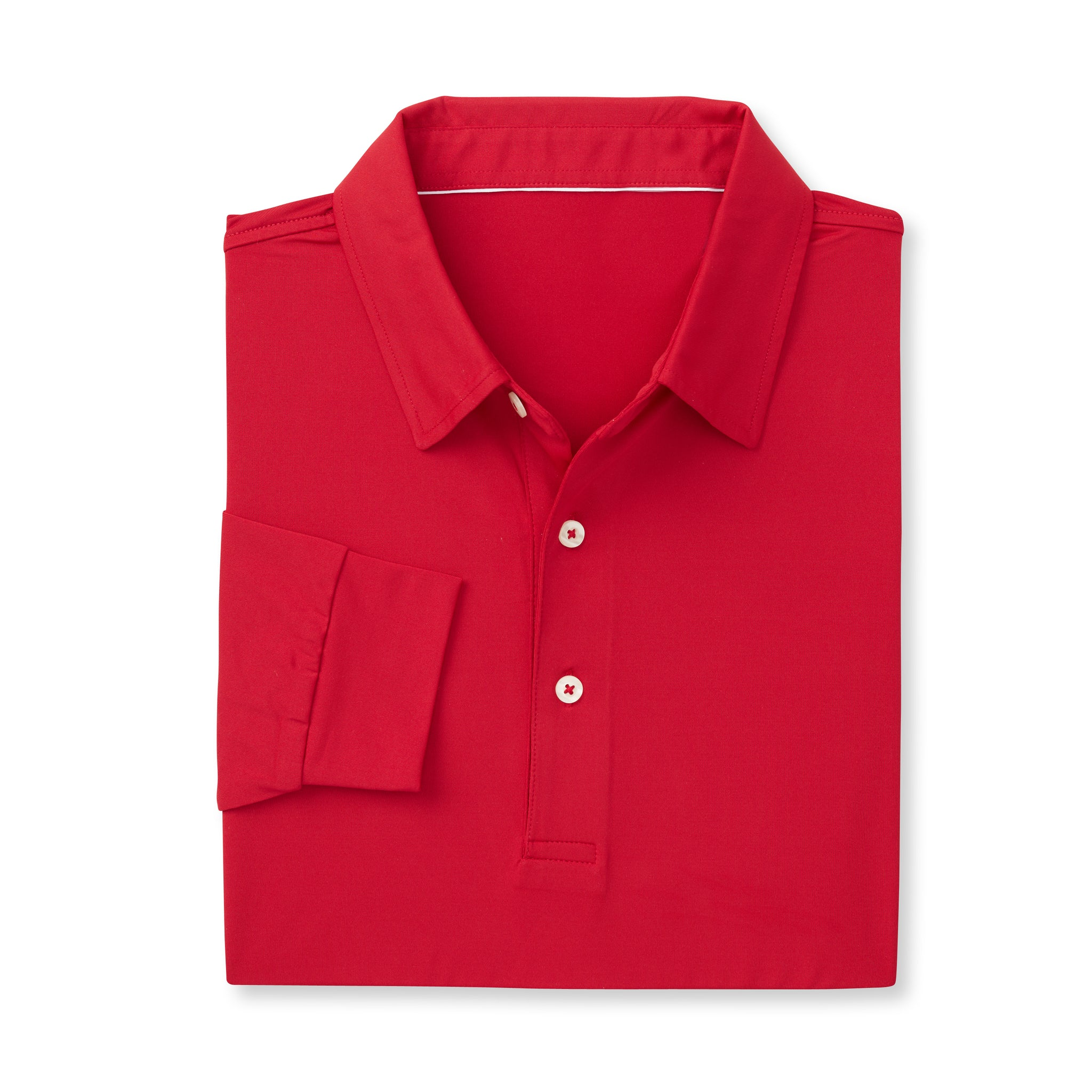 ECOTEC Long Sleeve Polo -Crimson IS66001