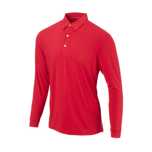 THE CLASSIC LONG SLEEVE POLO - Crimson IS66001