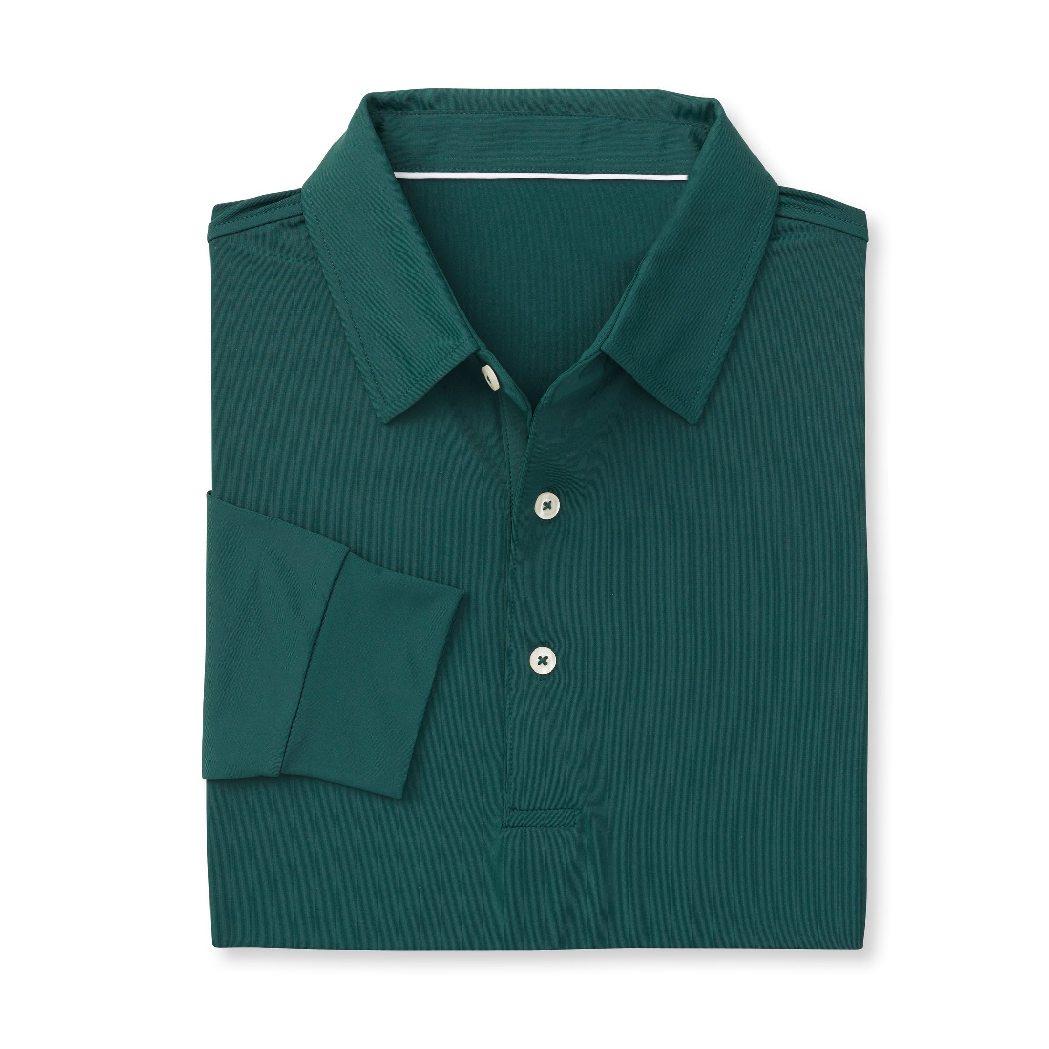 ECOTEC Long Sleeve Polo -Pine IS66001