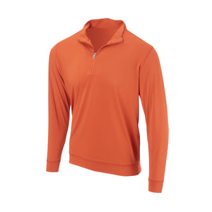 THE CLASSIC LONG SLEEVE HALF ZIP PULLOVER - Burnt Orange IS66006