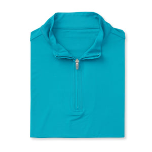 THE CLASSIC LONG SLEEVE HALF ZIP PULLOVER - Teal IS66006