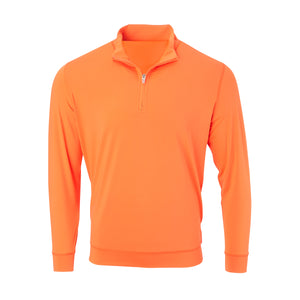 THE CLASSIC LONG SLEEVE HALF ZIP PULLOVER - Vibrant Orange IS66006