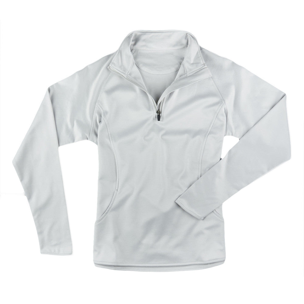 Womens Luxtec Stretch Half Zip Jacket - Cloud IS66304HZW