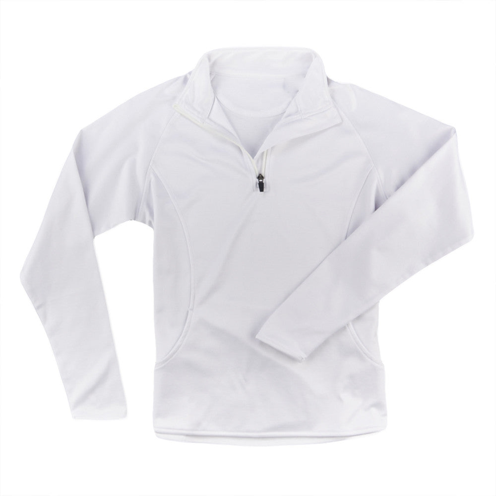 THE WOMEN'S LUXTEC HALF ZIP PULLOVER - White IS66304HZW