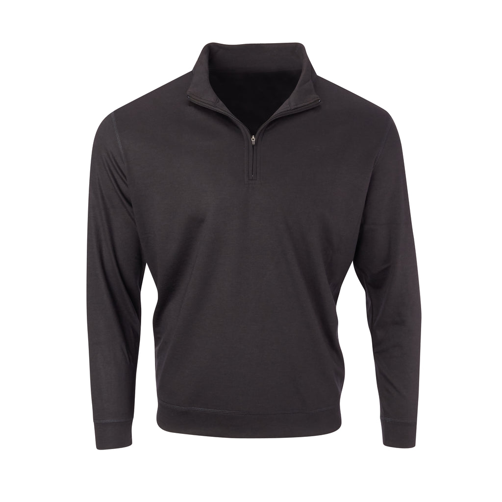 THE MATTHEWS LOFTEC HALF ZIP PULLOVER - Black IS66308HZ