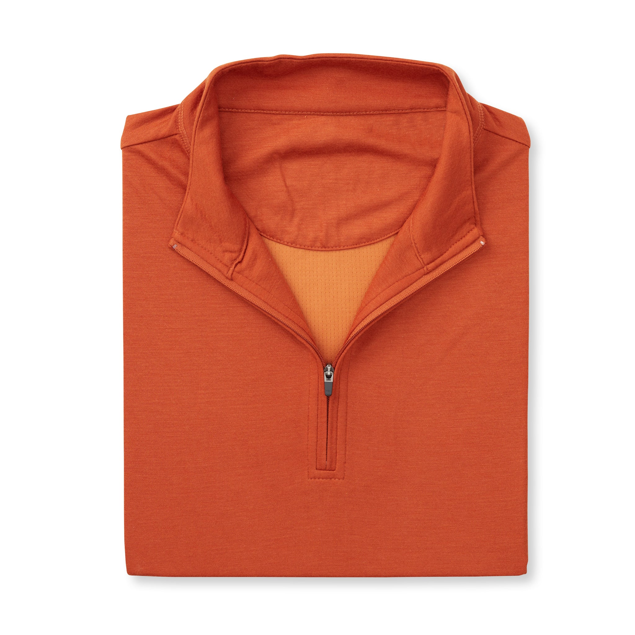 THE MATTHEWS LOFTEC HALF ZIP PULLOVER - Burnt Orange IS66308HZ