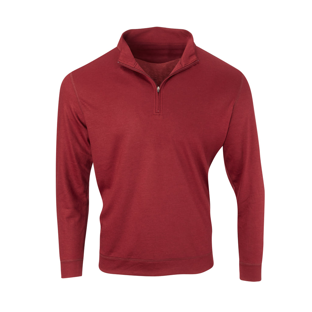 THE MATTHEWS LOFTEC HALF ZIP PULLOVER - Merlot  IS66308HZ