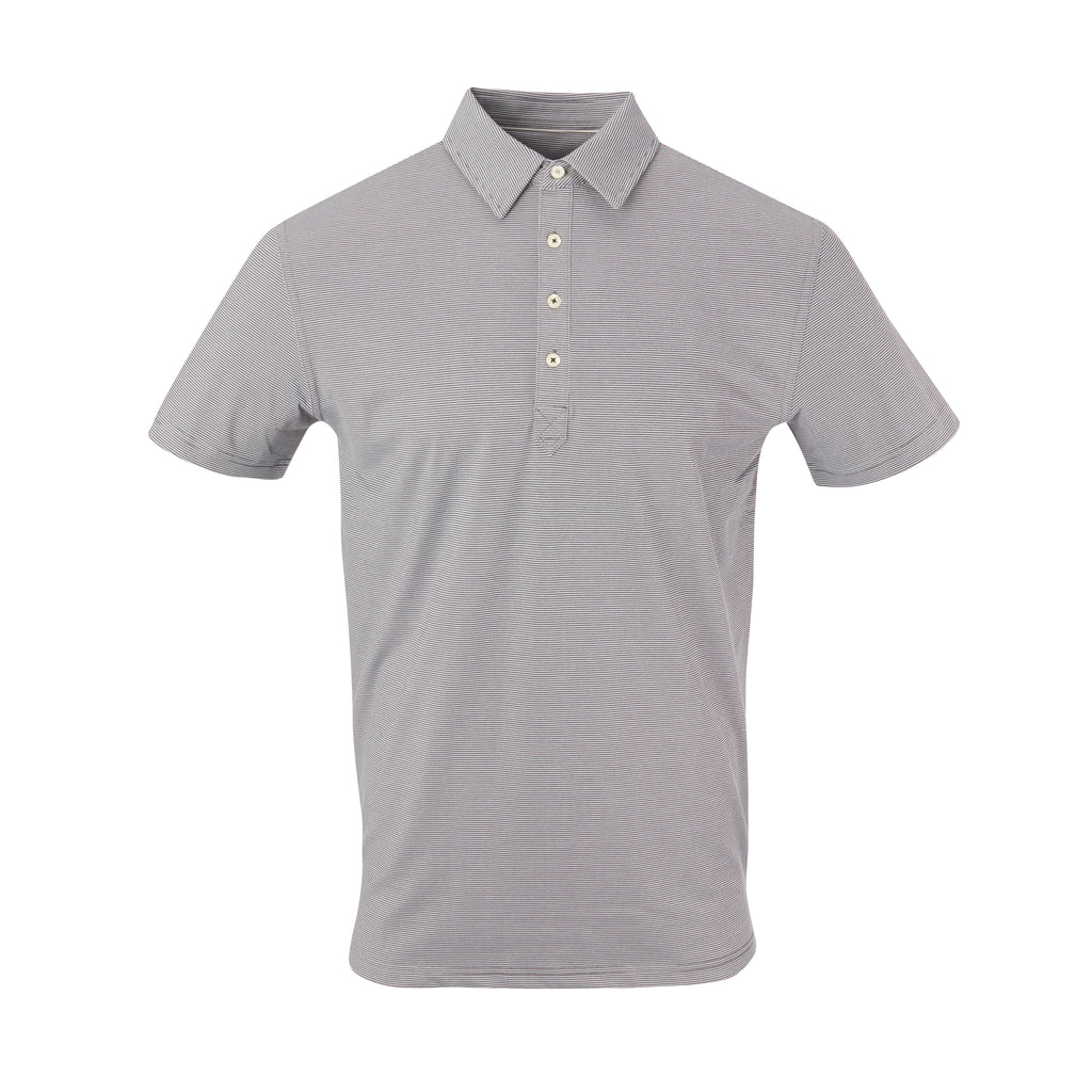 THE JACK LUXTEC STRIPE POLO - Black/Cloud IS72410