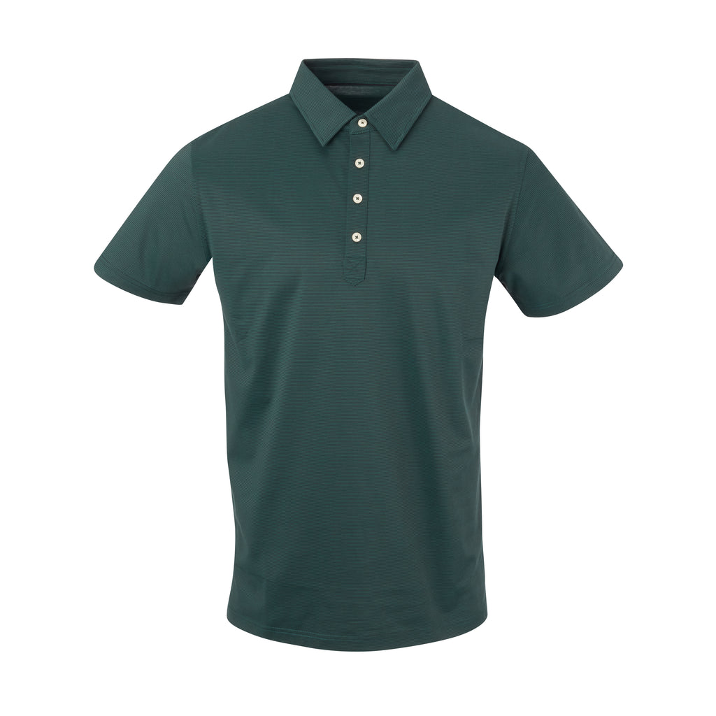 THE JACK LUXTEC STRIPE POLO - Pine/Black IS72410