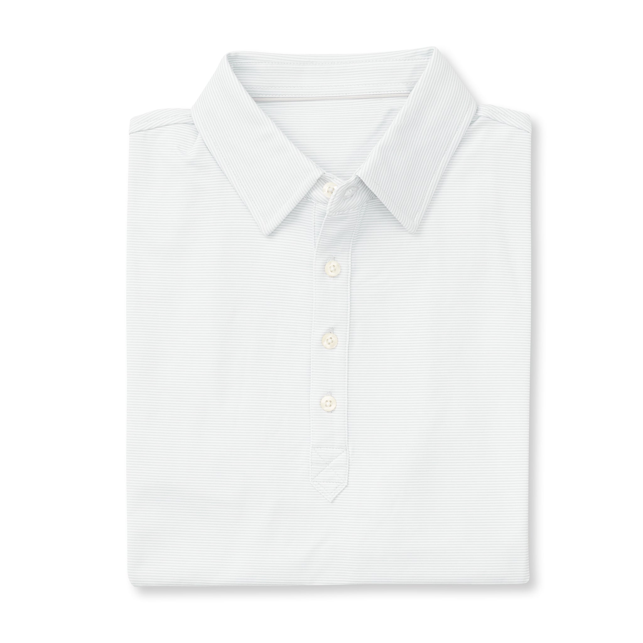 LUXTEC Champions Short Sleeve Stripe Polo - White/Cloud IS72410