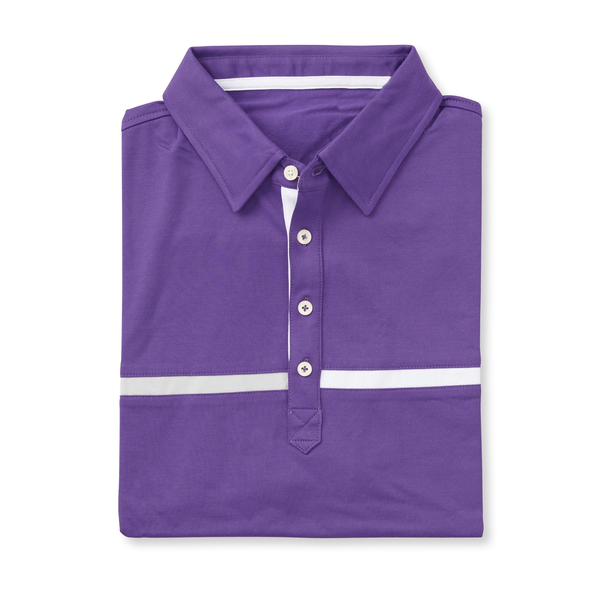 LUXTEC Champions Color Block Short Sleeve Polo - Berry IS72420