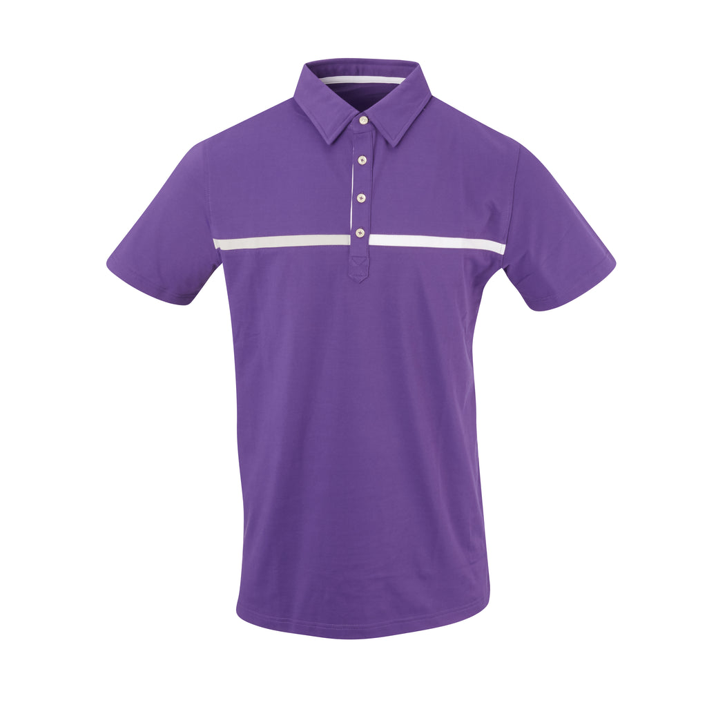 THE SNEAD LUXTEC COLOR BLOCK POLO - Berry IS72420