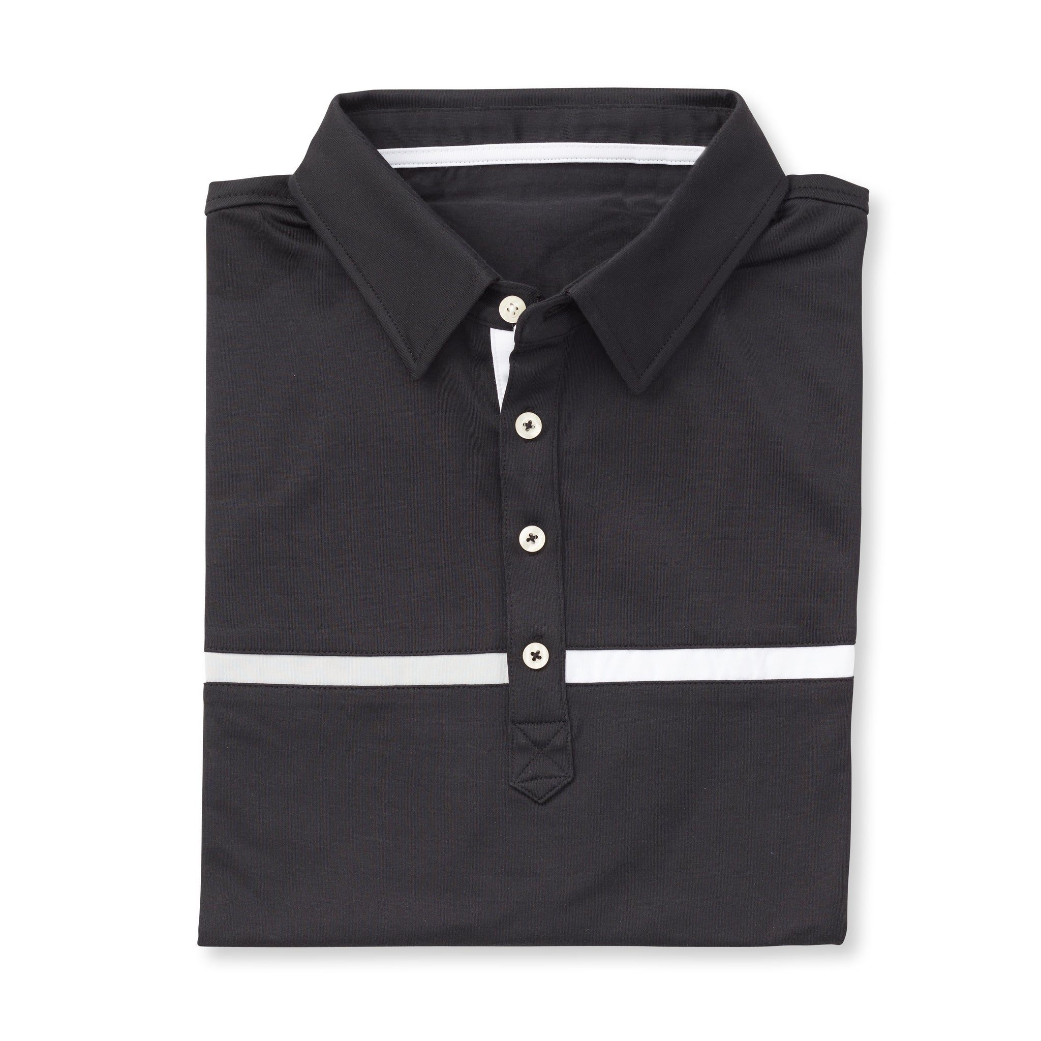 LUXTEC Champions Color Block Short Sleeve Polo - Black IS72420
