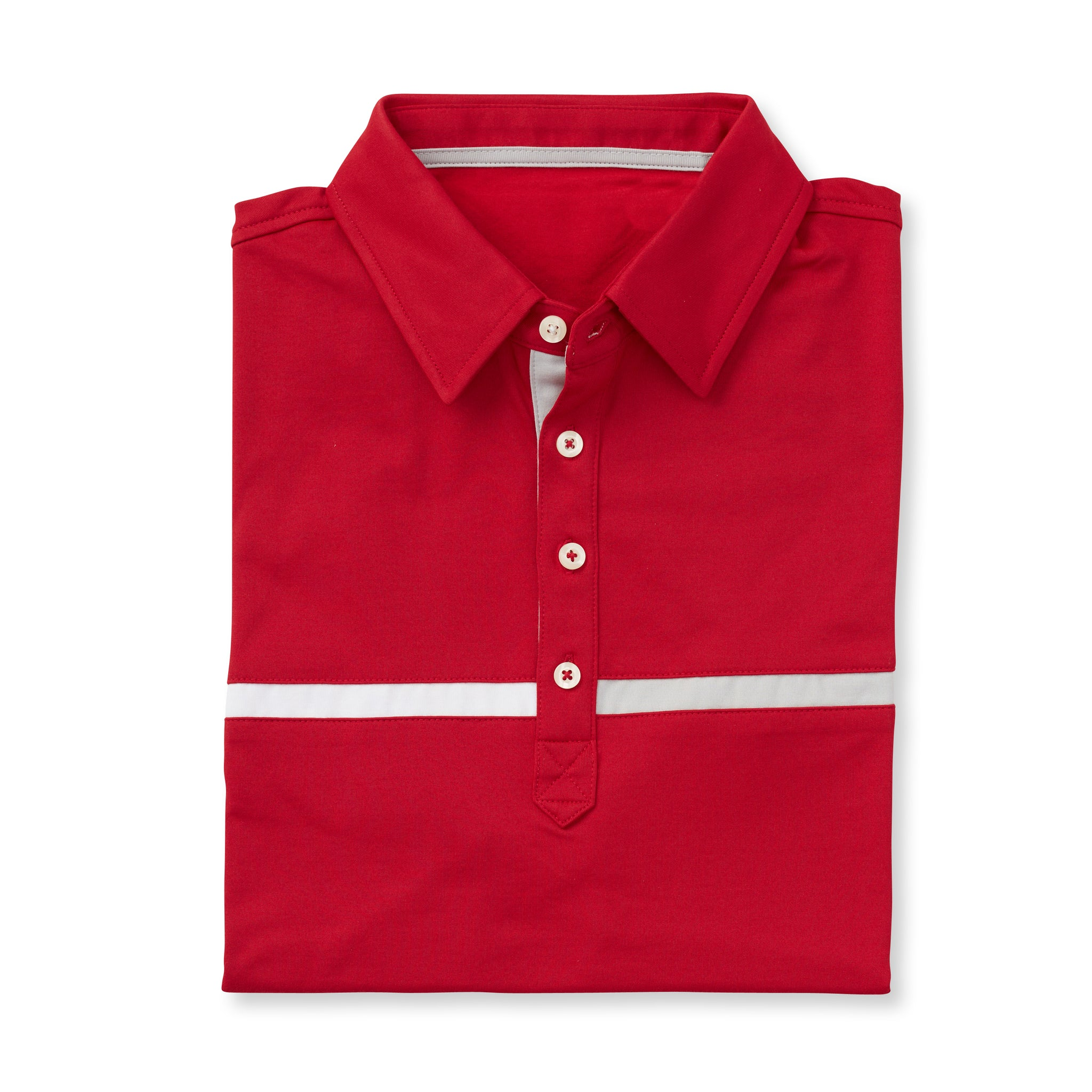 LUXTEC Champions Color Block Short Sleeve Polo - Crimson IS72420