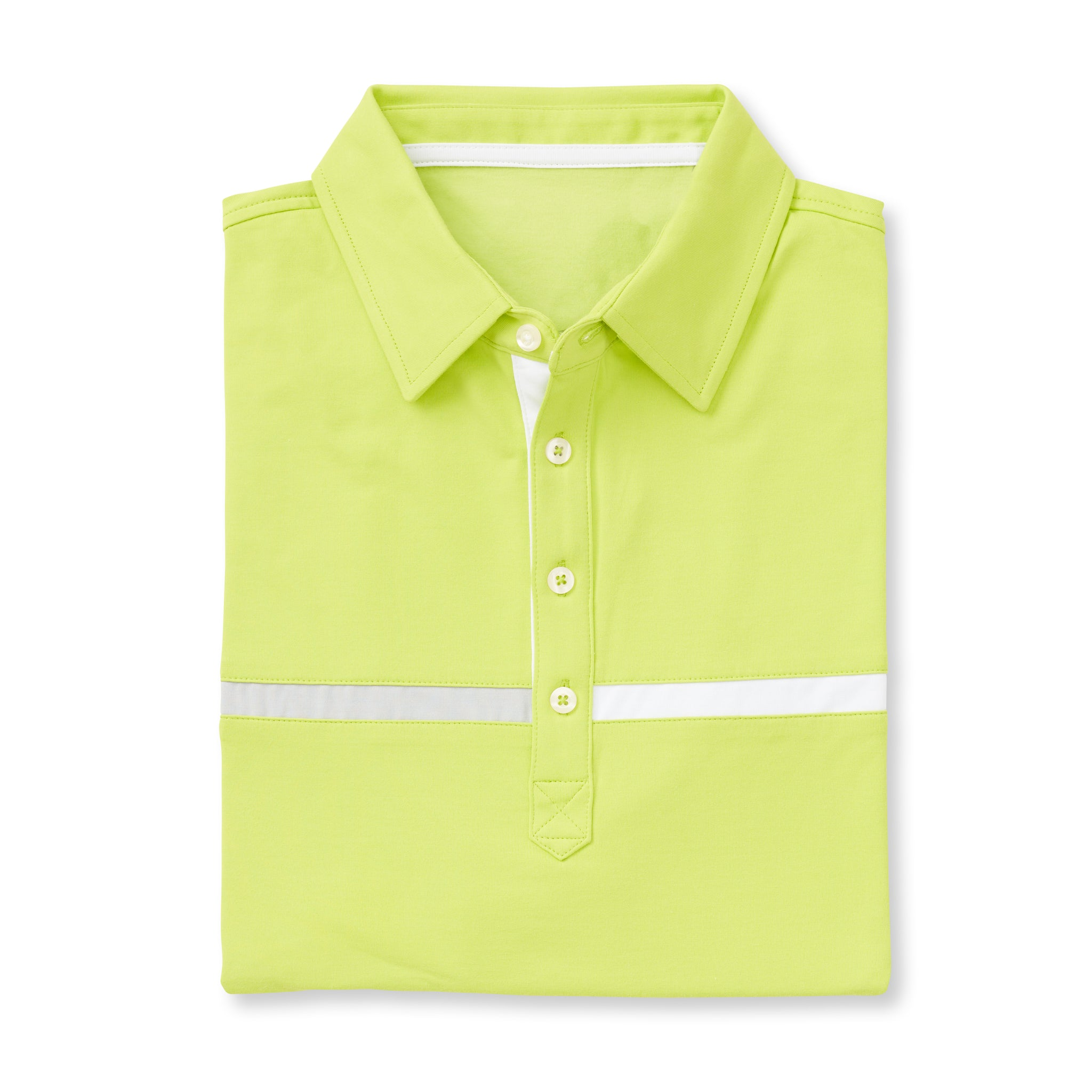 LUXTEC Champions Color Block Short Sleeve Polo - Lime IS72420
