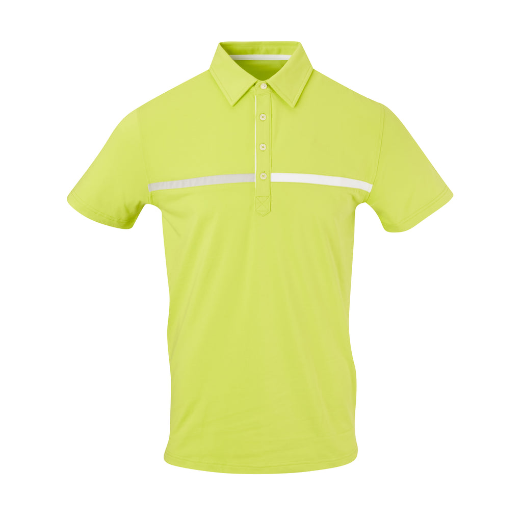 THE SNEAD LUXTEC COLOR BLOCK POLO - Lime IS72420