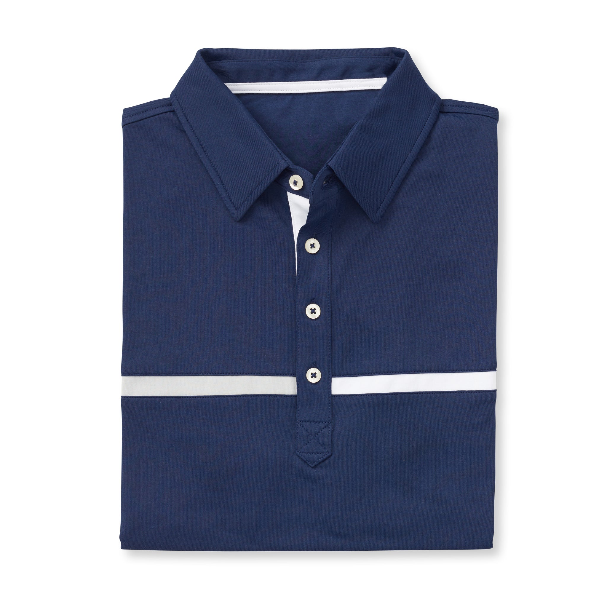 LUXTEC Champions Color Block Short Sleeve Polo - Navy IS72420