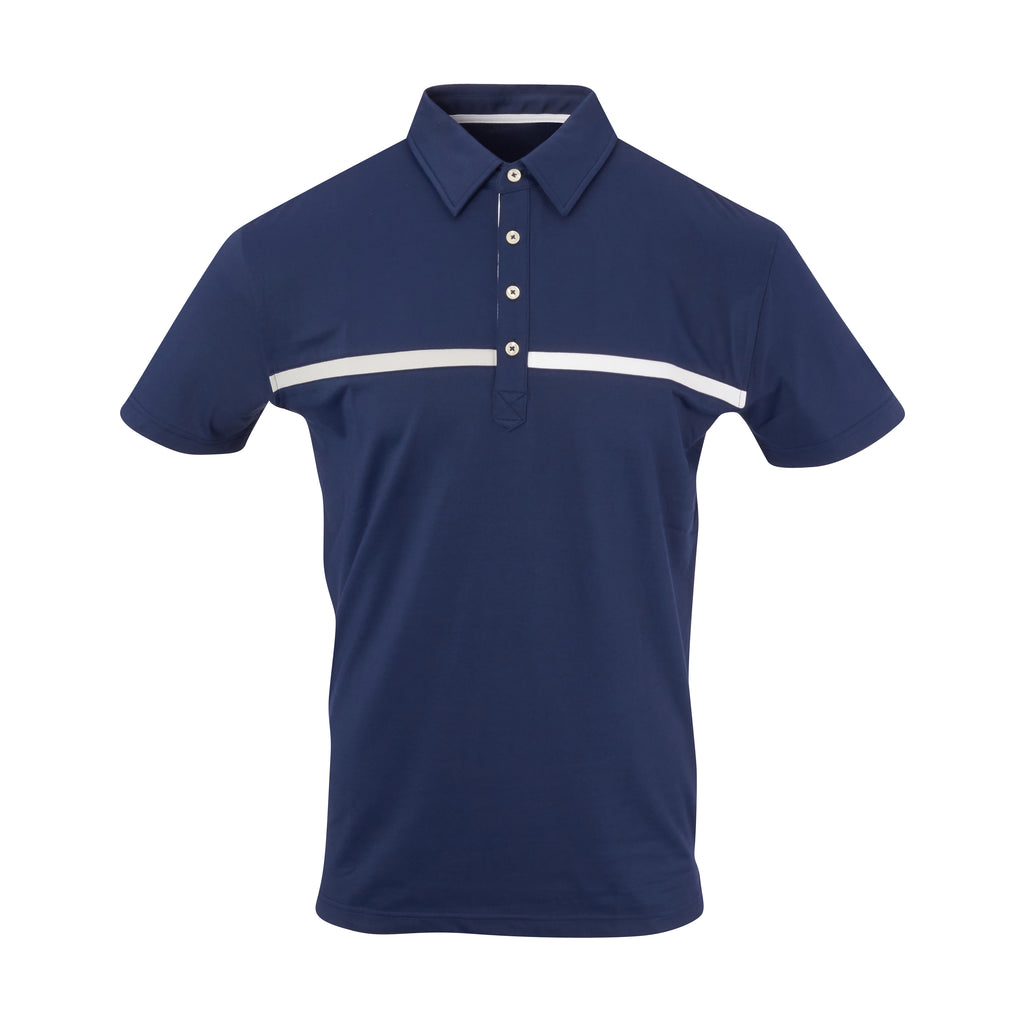 THE SNEAD LUXTEC COLOR BLOCK POLO - Navy IS72420