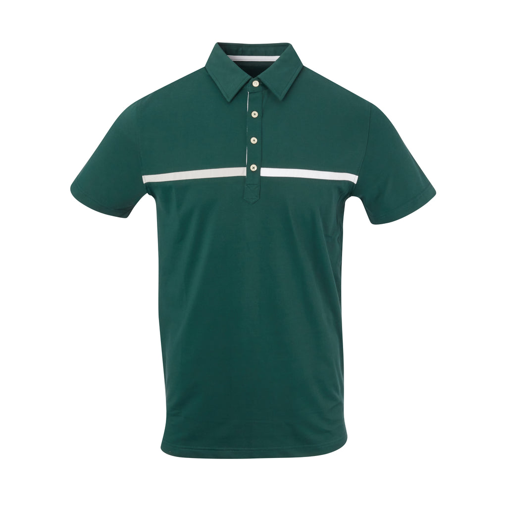 THE SNEAD LUXTEC COLOR BLOCK POLO - Pine IS72420