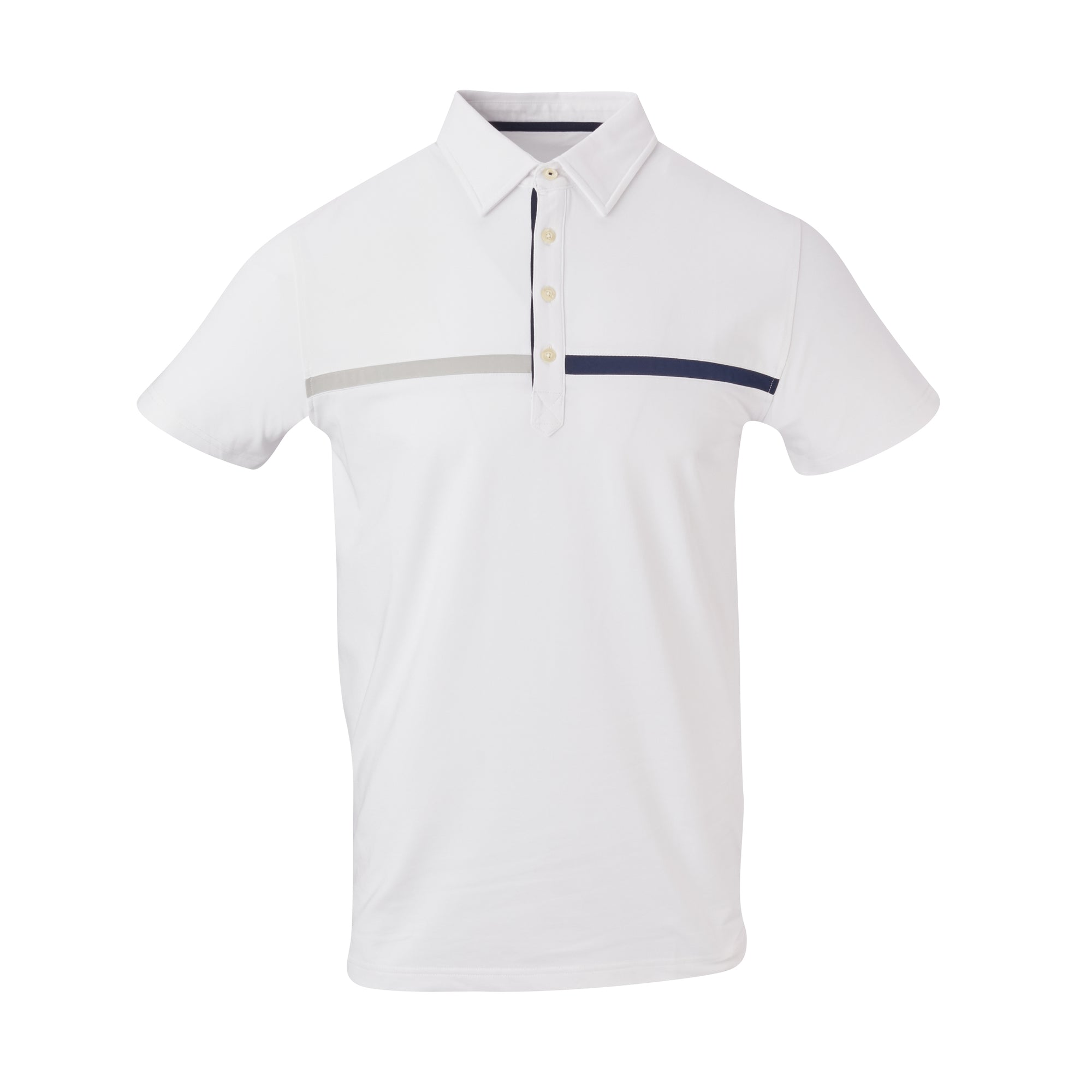 THE SNEAD LUXTEC COLOR BLOCK POLO - White IS72420
