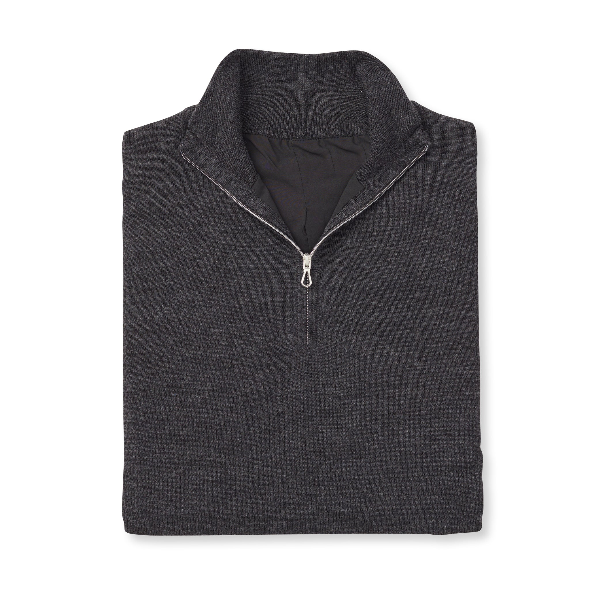THE WOMEN'S CHITOWN MERINO HALF ZIP PULLOVER - Black Heather IS75708HLSW