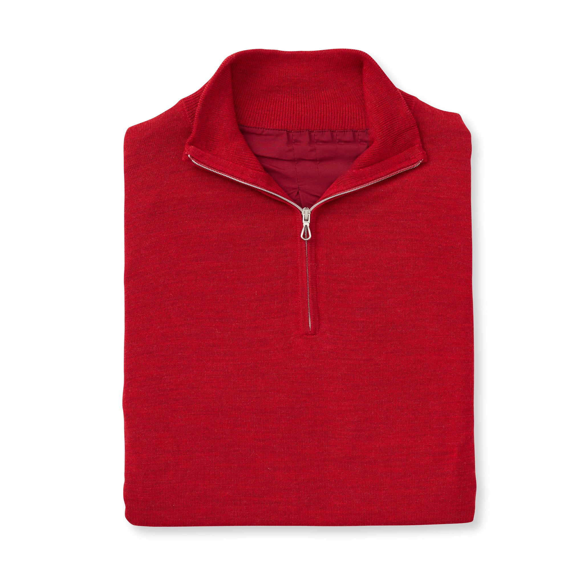 Womens MERINO Wind Block Lined Half-Zip Sweater - Crimson IS75708HLSW