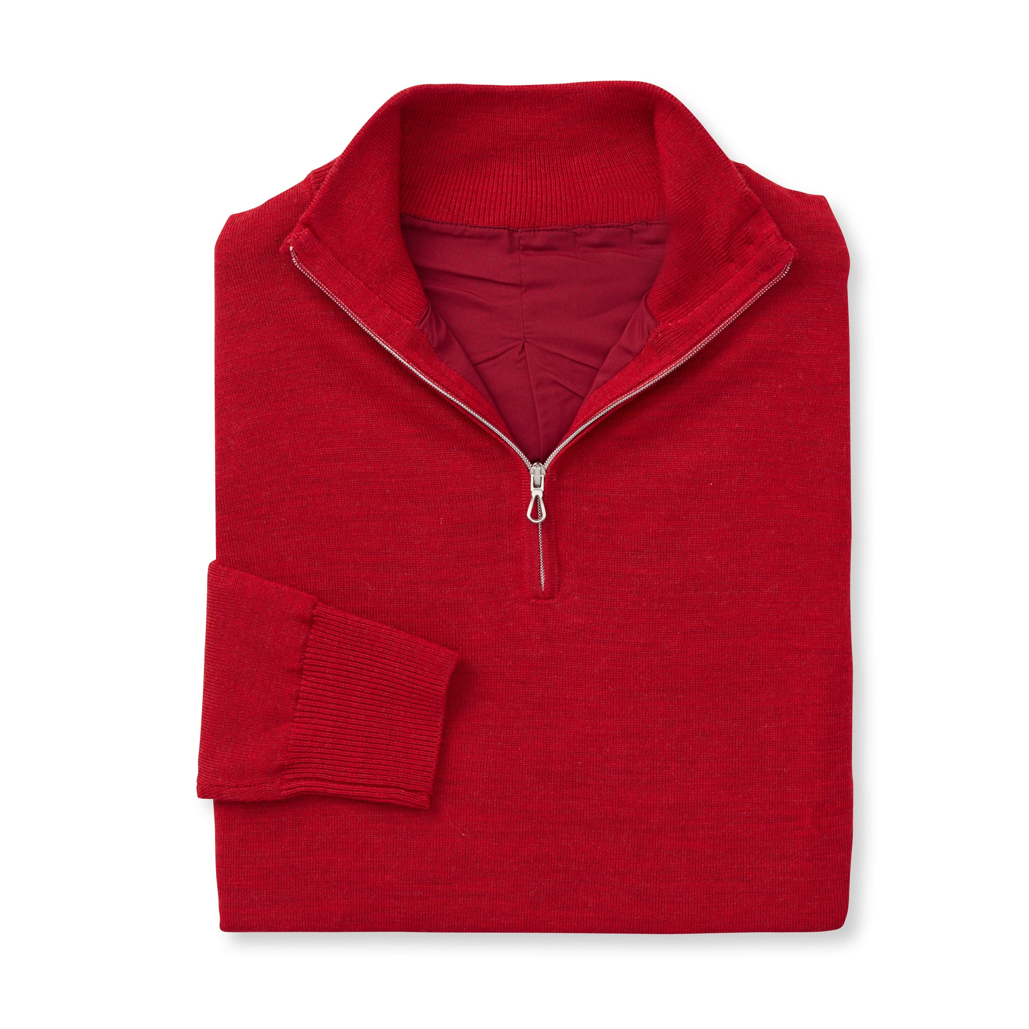 MERINO Wind Block Half-Zip Sweater - Crimson Heather IS75708HLS