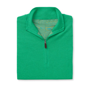 THE CHITOWN MERINO HALF ZIP PULLOVER - Turf IS75708HLS