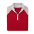 THE WOMEN'S CHITOWN RAGLAND MERINO HALF ZIP PULLOVER - Cloud/Crimson Heather IS75788HLSW