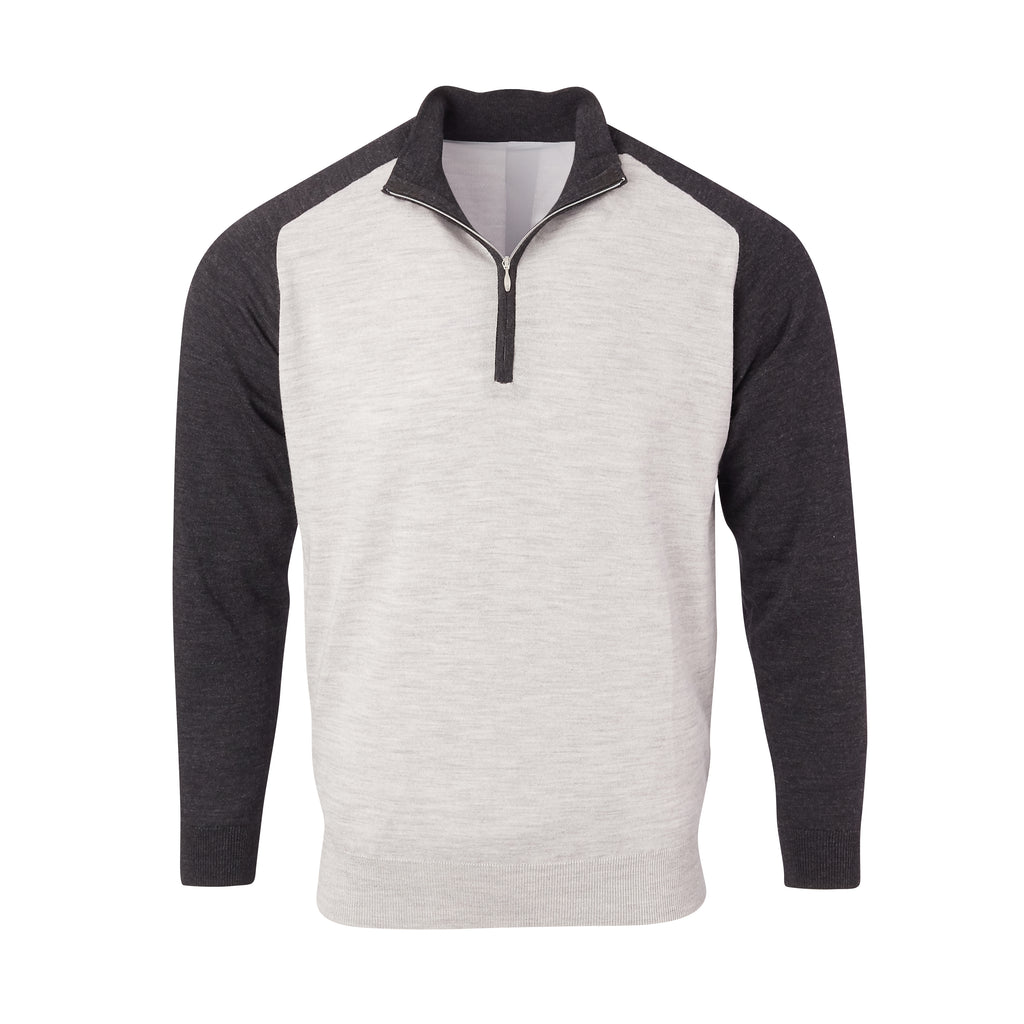 THE CHITOWN RAGLAND MERINO HALF ZIP PULLOVER - IS75788HLS