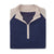 THE CHITOWN RAGLAND MERINO HALF ZIP PULLOVER - Tan/Navy Heather IS75788HLS