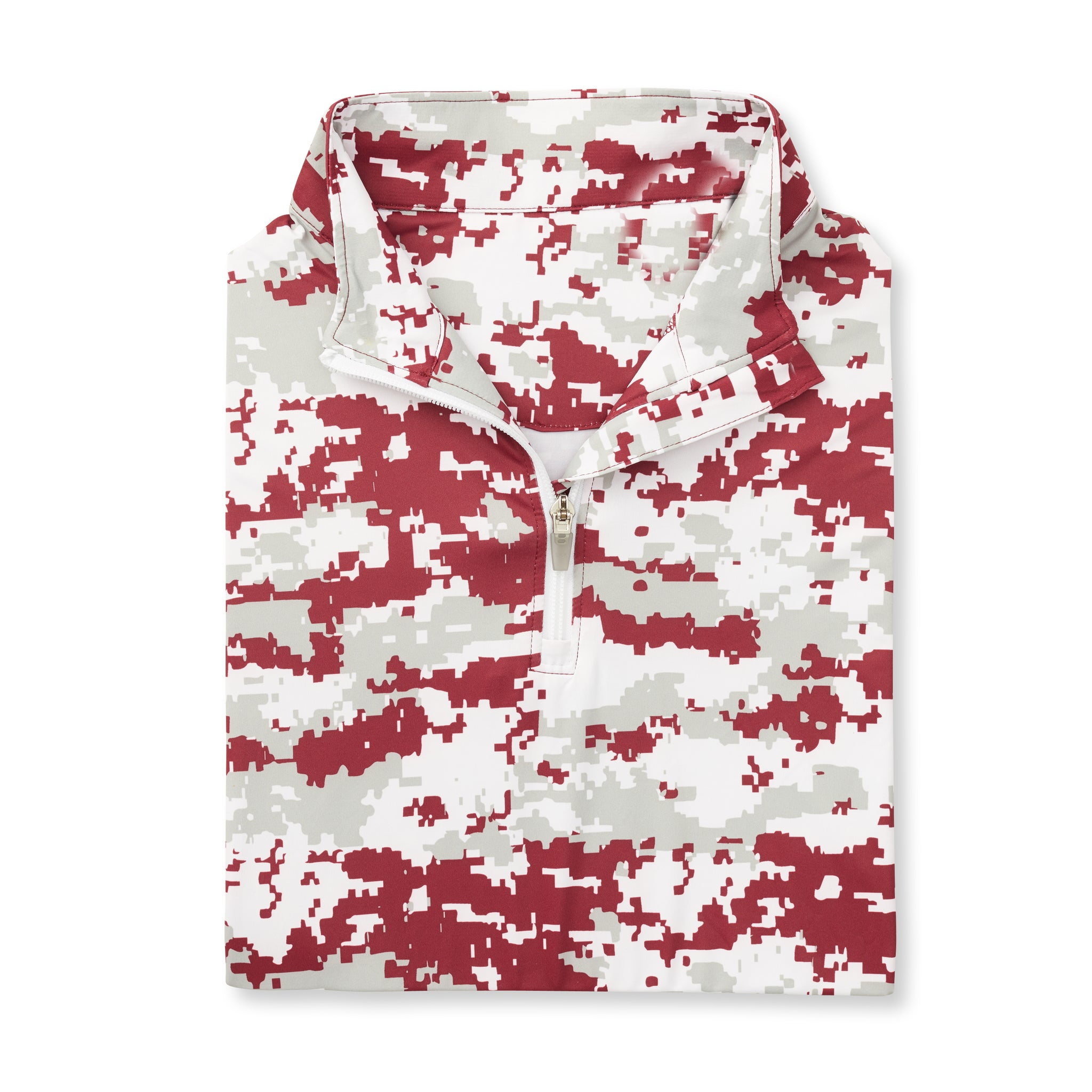 Womens Digital Camo Half Zip - Merlot IS76005W