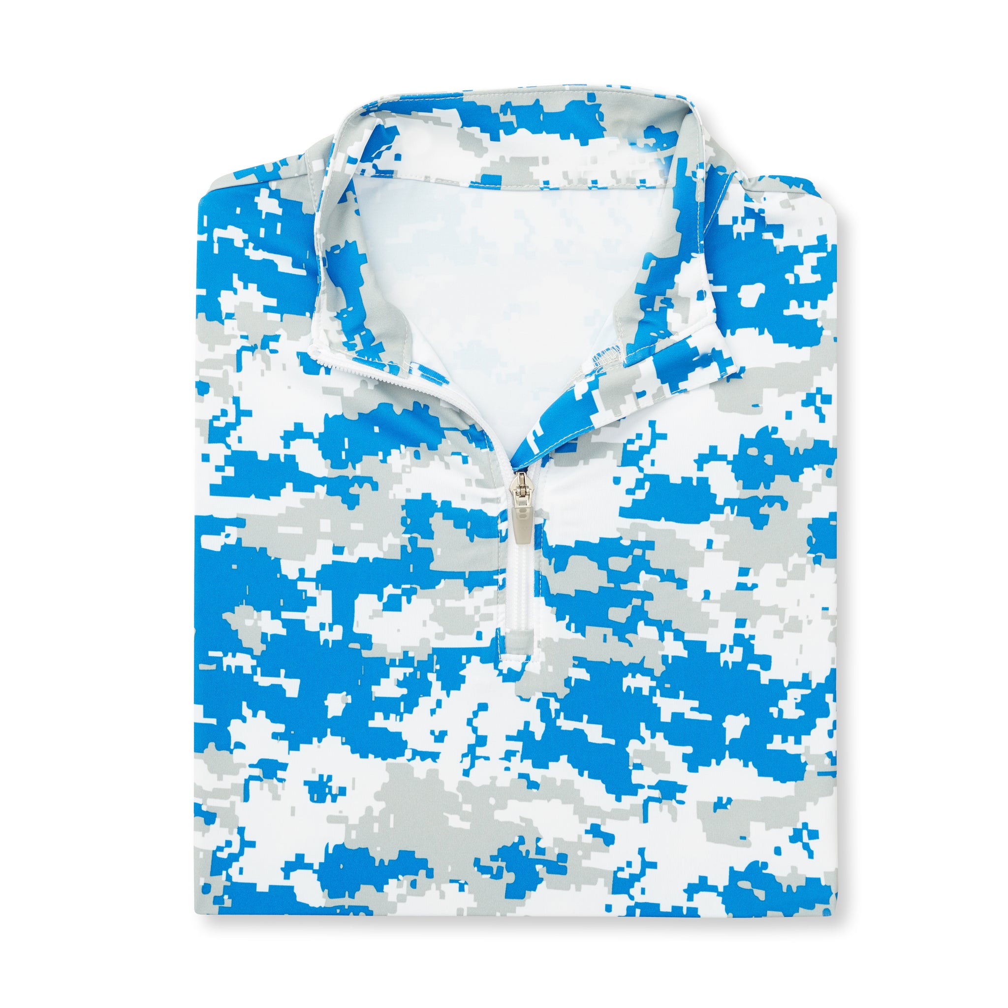 Womens Digital Camo Half Zip - Nautical Blue IS76005W
