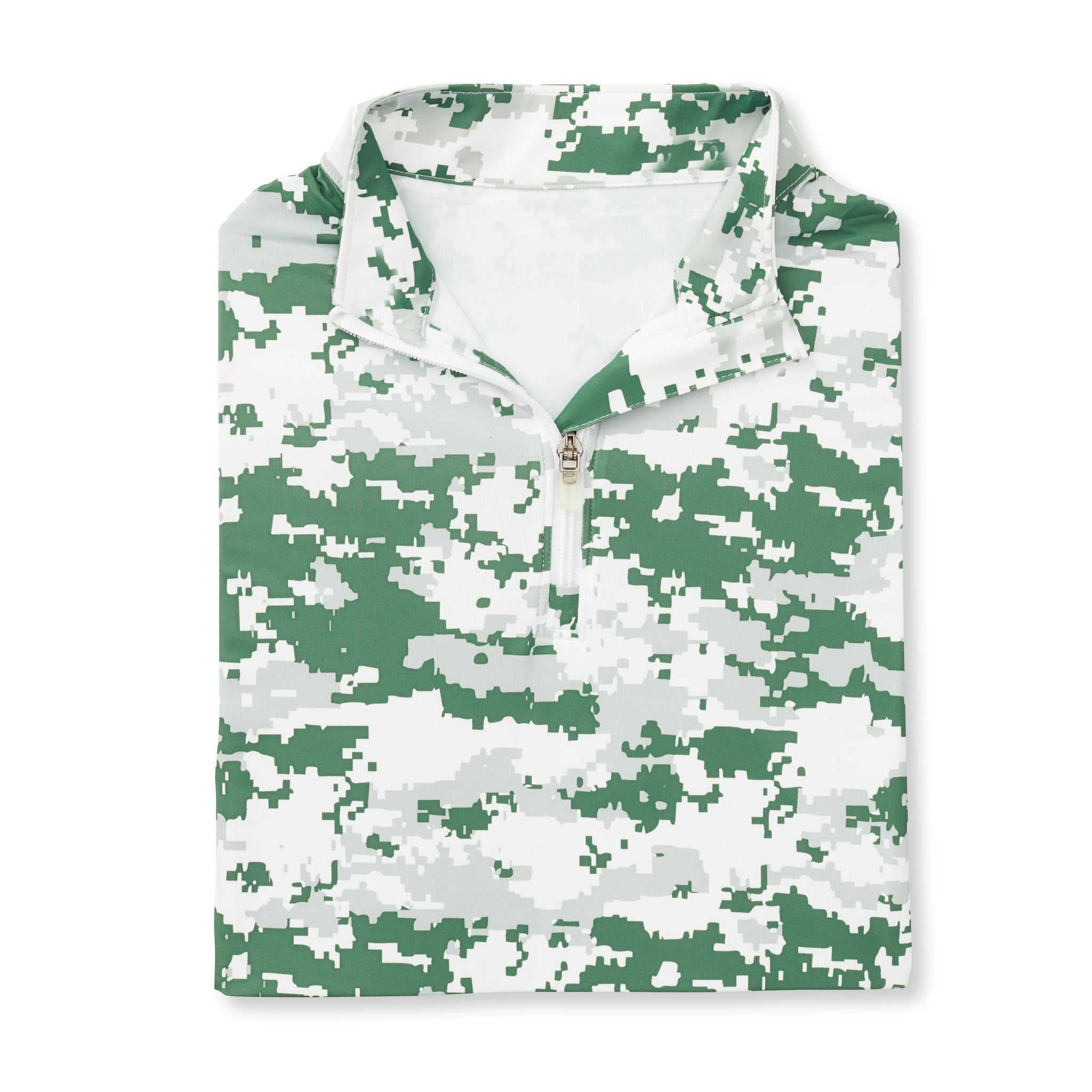 Womens Digital Camo Half Zip - Pine Green IS76005W